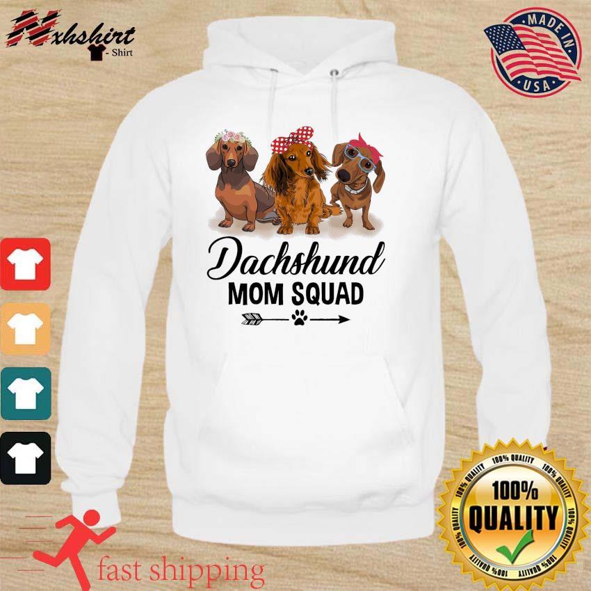 Dachshund Dogs Mom Squad 2021 Shirt hoodie