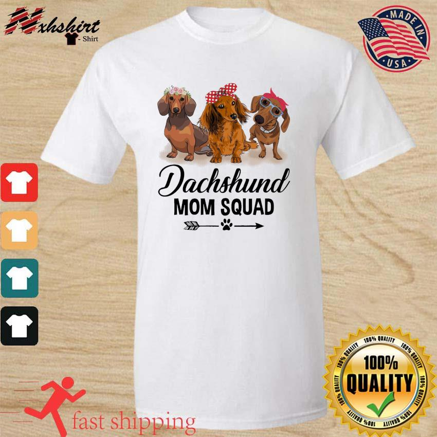 Dachshund Dogs Mom Squad 2021 Shirt