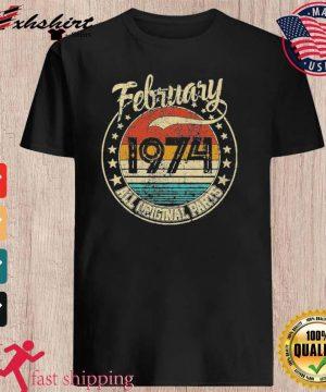 February 1974 All Original Parts Vintage Shirt