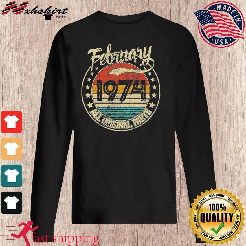 February 1974 All Original Parts Vintage Shirt sweater