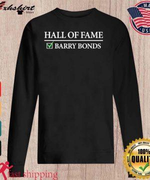 Hall Of Fame Barry Bonds Shirt sweater